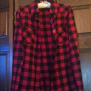 TNA Plaid Button Up Shirt